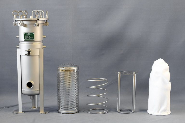 Bag filter housing chemical industry