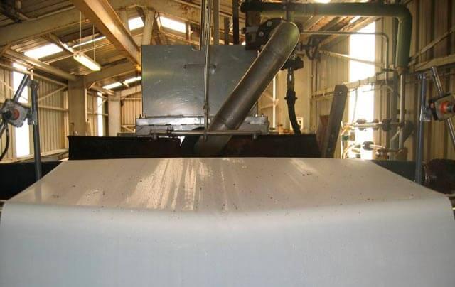 Bande filtrante filtre sous vide zinc