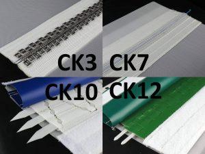 Filter belt closures