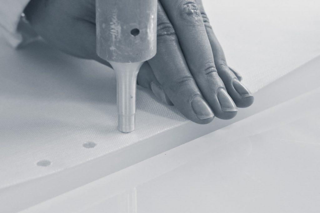 Filter element ultrasonic welding