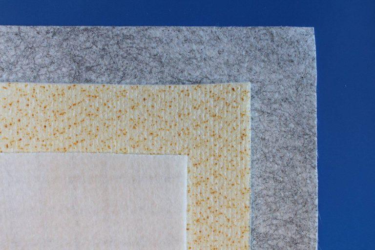Non tissé filtrant viscose polyester polypropylene