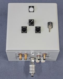 Control box self cleaning filter