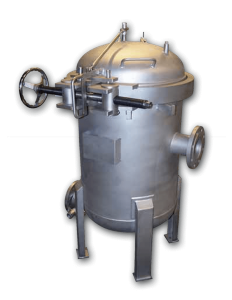 Multi-bag filter housing in stainless steel