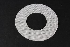 Precision filter fabric disc